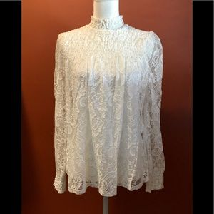 CABLE & GAUGE LACE TOP
